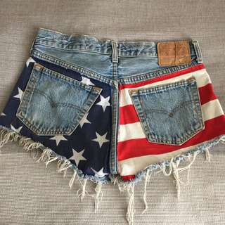 Vintage Levi's American Flag Shorts