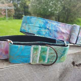 Tie Dye Martingale Dog Collar