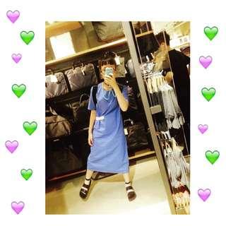 韓女子設計收腰洋裝