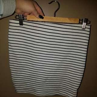 Stripy Tight Skirt