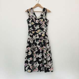 Art Print Silk Dress
