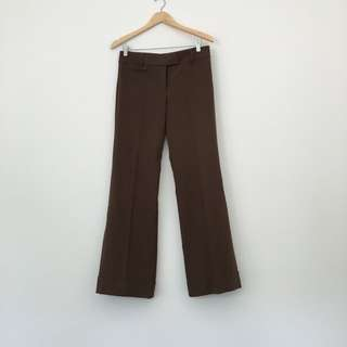 Vintage Brown 70s Style Flare Pants