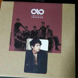 Infinite Paradise Album + Woohyun Pc + Poster