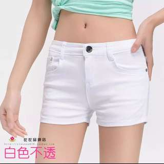 白色高腰褲 小尺碼