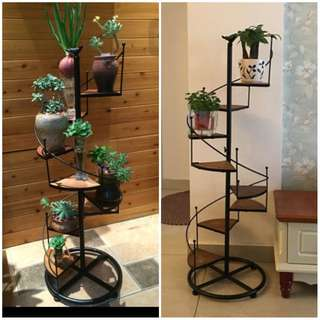 Vintage Stairway Stand For Terrarium And Potted Plants