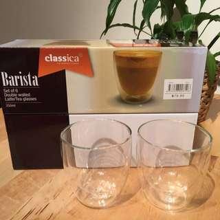 Double Walled Latte/tea Glasses