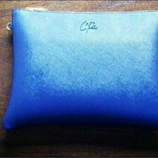 HANDMADE CLUTCH ELECTRIC BLUE