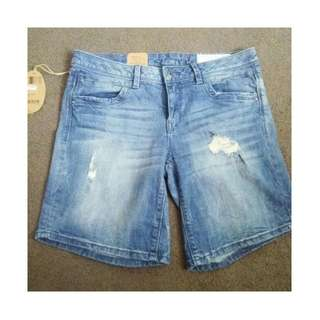 *NEW ESPIRIT RIPPED DENIM SHORTS