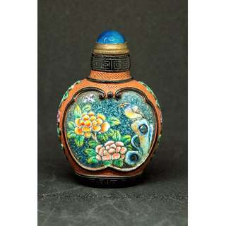 Peony & Water Lily Snuff Bottle