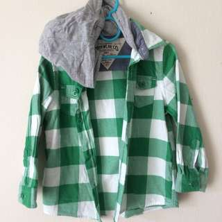M&S Lumber Checkered Shirt With Hoodie