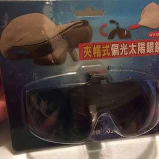夾帽式偏光太陽眼鏡