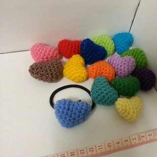 Tiny Crocheted Hearts