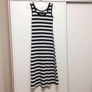 黑白橫條紋洋裝