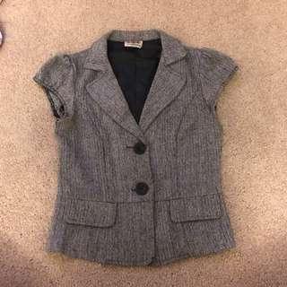 Waistcoat/vest In Chevron Tweed Style