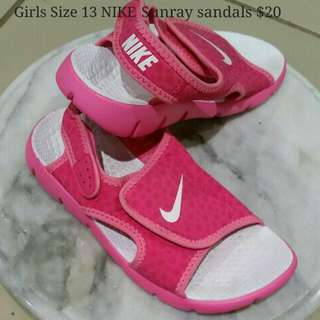 SOLD ELSEWHERE- Girls Size 13 NIKE SUNRAY Sandals