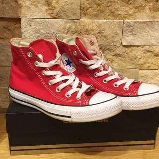【Convers】經典紅高筒帆布鞋
