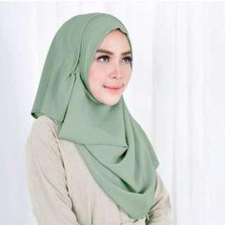 Ghaida Instan Vanilla Hijab - Raisin