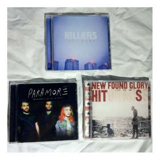 ASSORTED CDs - PARAMOUR THE KILLERS NEW FOUND GLORY