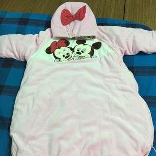 (全新)麗嬰房Disney迪士尼米奇睡袋/睡袍/防踢被