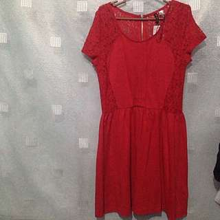 Red Dress By H&M