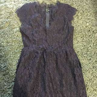 Babaton Purple Lace Dress