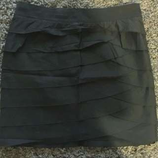 DKNY Black Ruffle Skirt