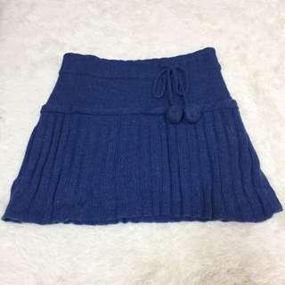 8成新 毛線綁帶短裙