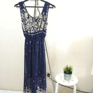 Long Dress Blue Black
