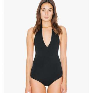 Selling A American Apparel Black Halter Body Suit
