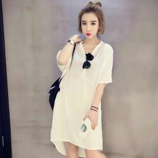 Spandex Chiffon Long Back Dress