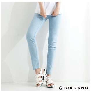 Giordano 顯瘦點點淺藍色休閒褲(可換物)