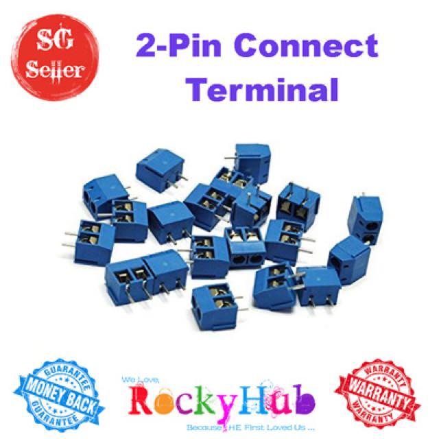 5 08-301-2P 2 Pin Screw Terminal Block Connector 5mm Pitch
