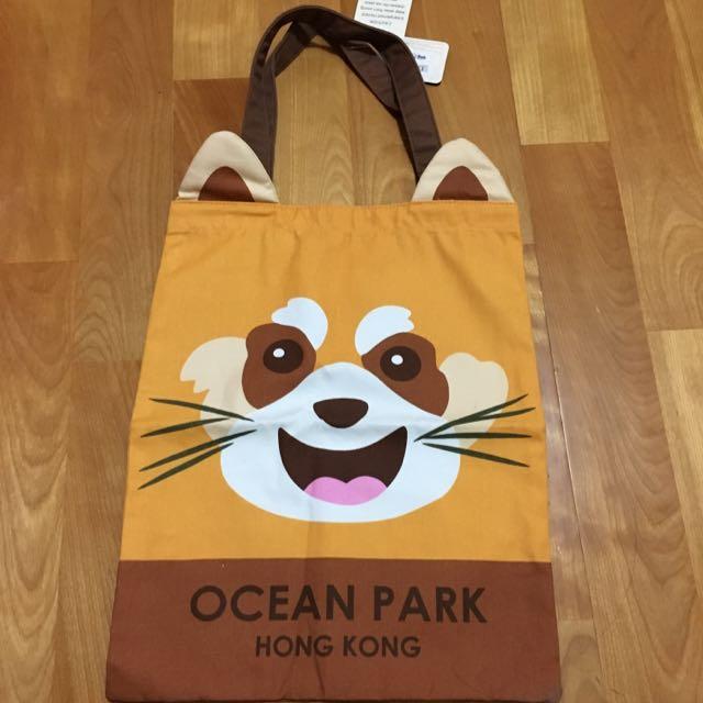 香港海洋公園-浣熊購物袋