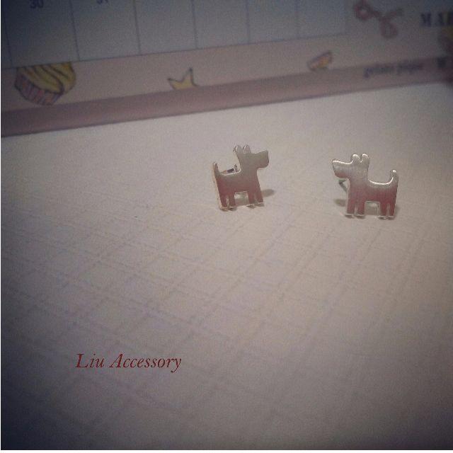 可愛狗狗 耳環