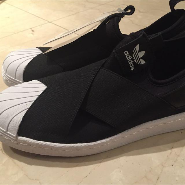 愛迪達繃帶鞋 黑色 23cm