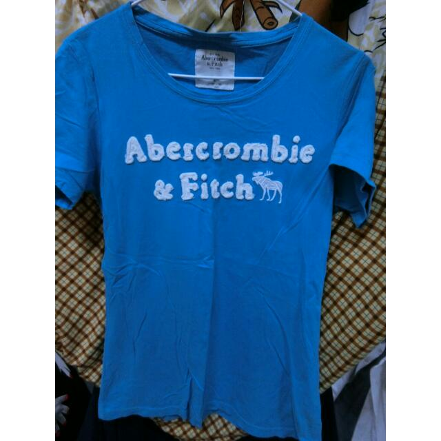 abercrombie & fitch 藍 短t