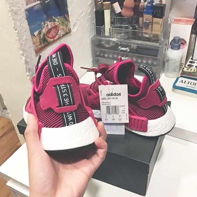 buy popular d7785 f2a53 Adidas NMD XR1 W Unity Pink, Women's Fashion, Shoes on Carousell