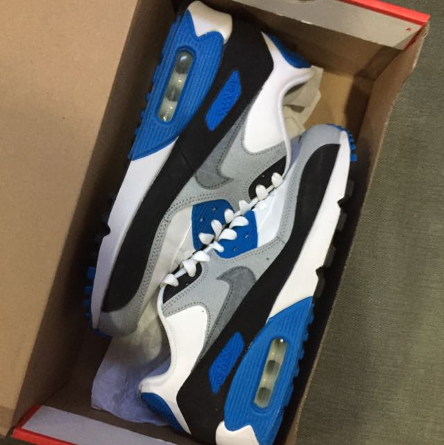 Air Max 90 White/Cool Grey-Photo Blue-Black