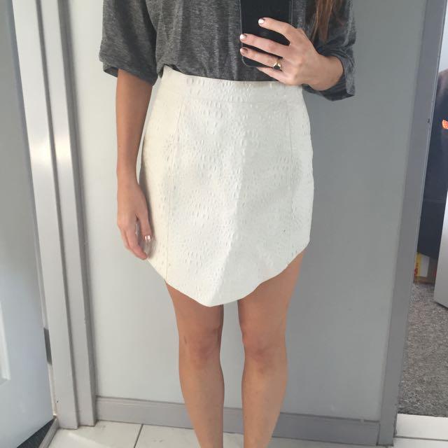 Australian Designer Leather Skirt