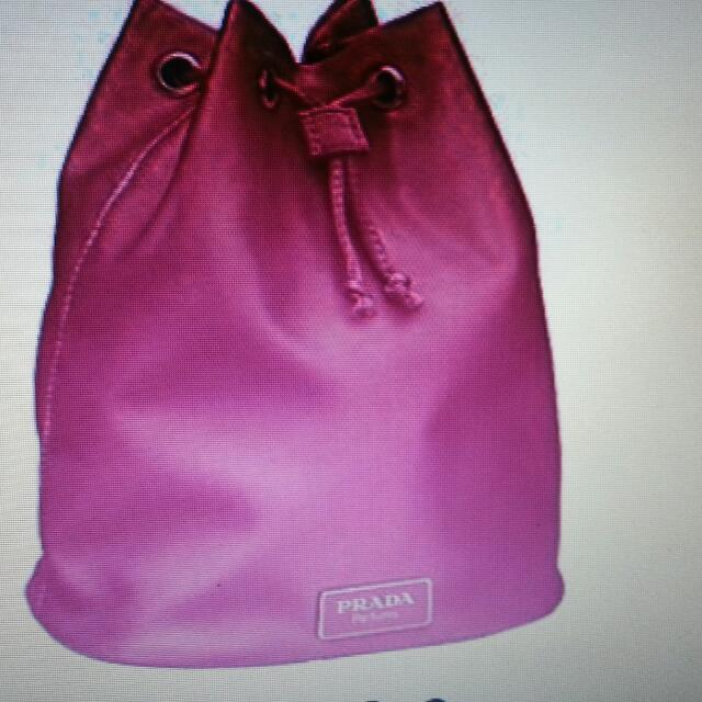 Authentic Drawstring PRADA Bag