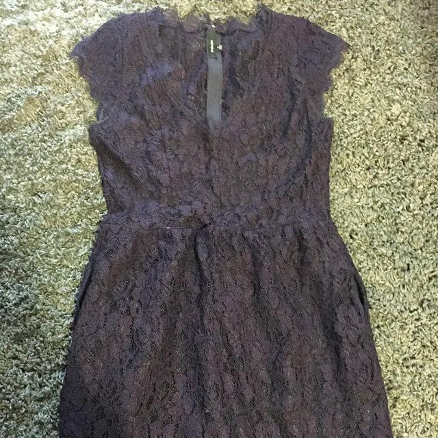Babaton Purple Lace Dress