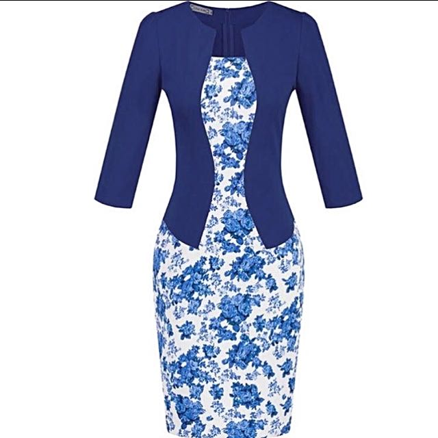 Blue Dress For office or Casual