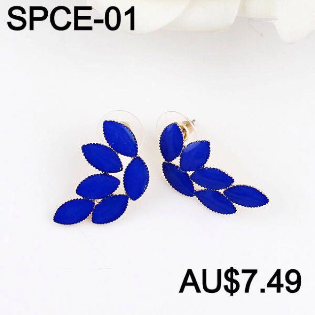 Blue Woman Earrings