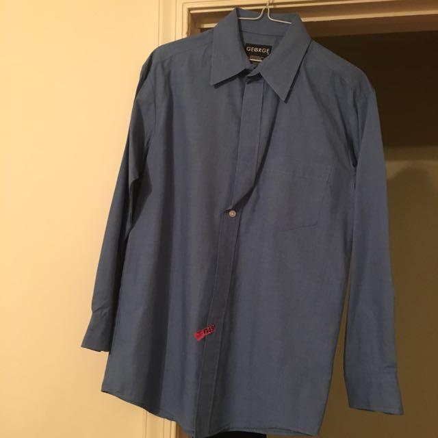 Boys Blue Dress Shirt