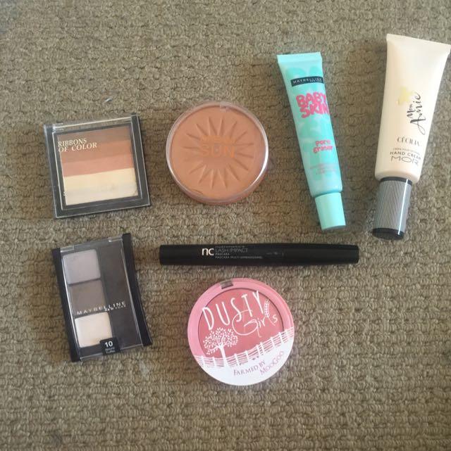 Bundle Of Makeup And Hand Cream