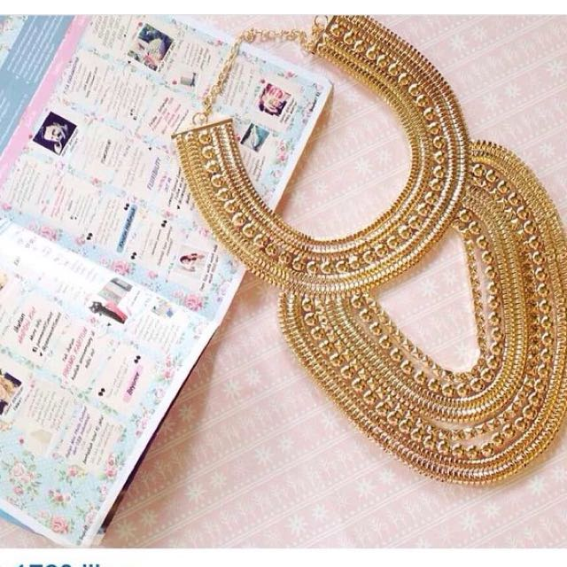 Cleo egypt gold necklace