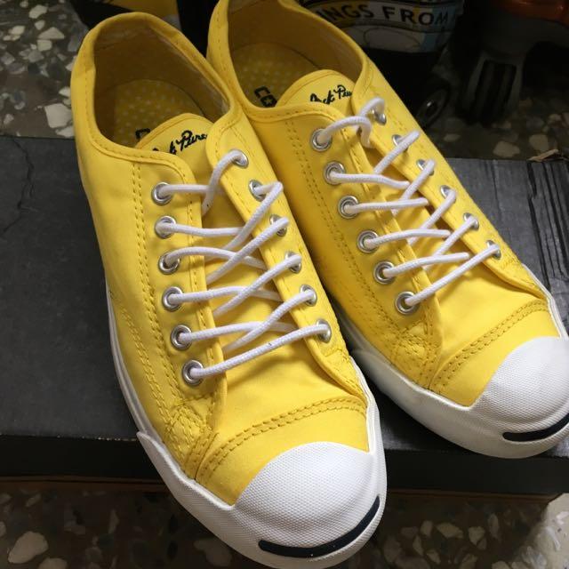 Converse黃色羽球運動鞋帆布鞋
