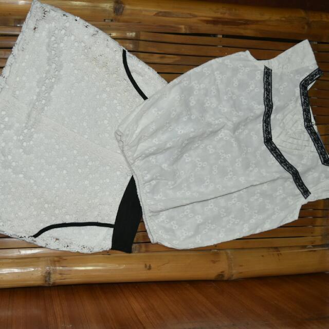 Cream Blouse And Skirt Set