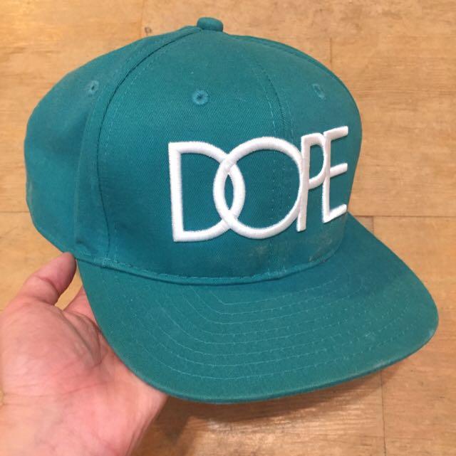 DOPE 湖水綠平帽簷棒球帽