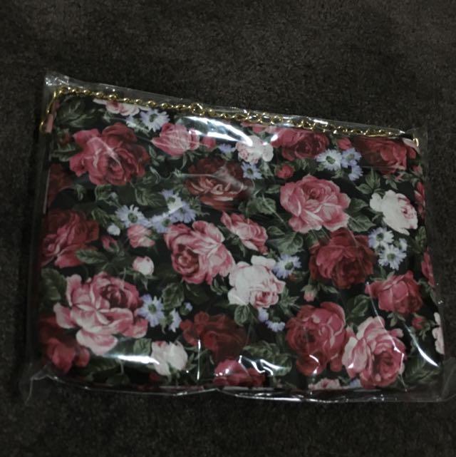 Floral Chain Bag
